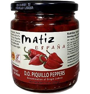 Matiz Piquillo Peppers, Denomination of Origin Lodosa (7.6 ounce) (1 Jar)