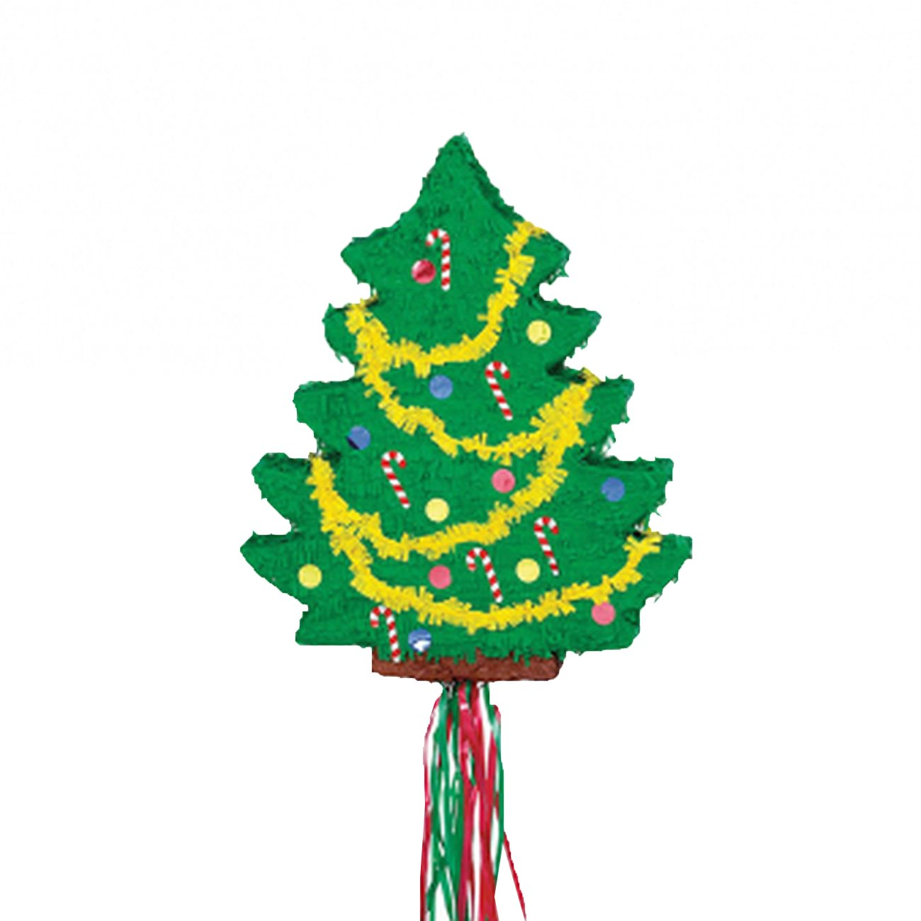 Christmas Tree Flat 21 1/2in x 18in Pull String Pinata