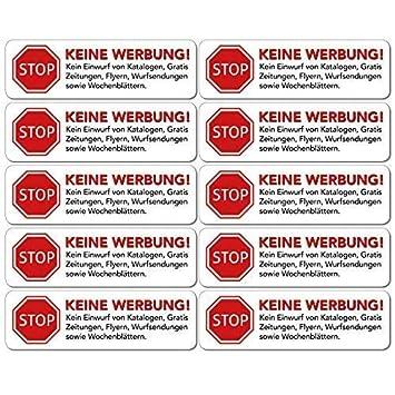 Keine Werbung Aufkleber In Weiss Schild Folie Sticker Stop