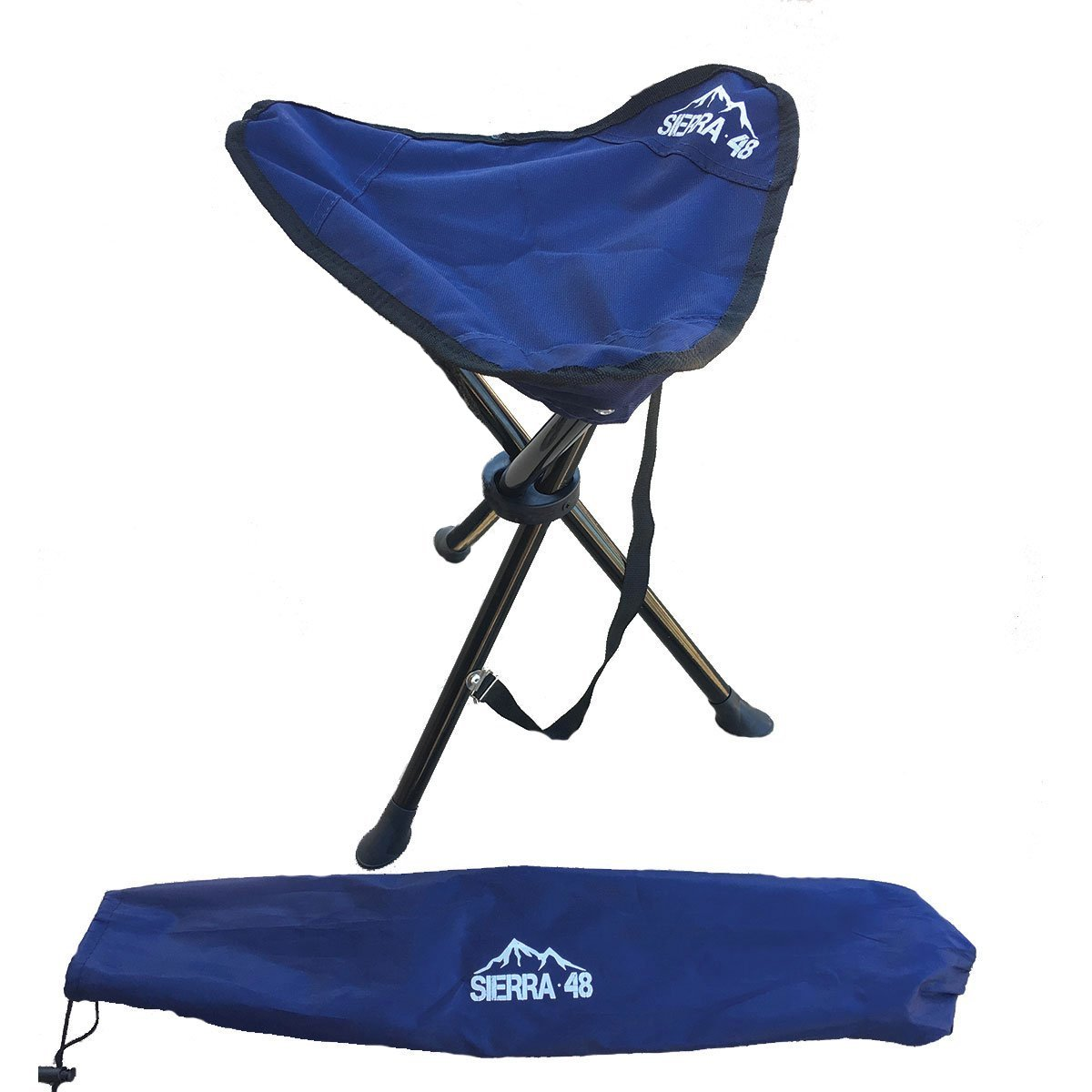 Camping Tripod Stool Perfect Hiking Folding Chair with Shoulder Strap and carrying case