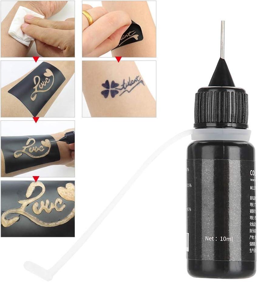 Crema para tinta de tatuaje - Crema de tatuaje orgánico natural, suave y no irritante - Etiqueta engomada del tatuaje, Impermeable, Duradera - Adecuado para pintura temporal de arte corporal: Amazon.es: Belleza