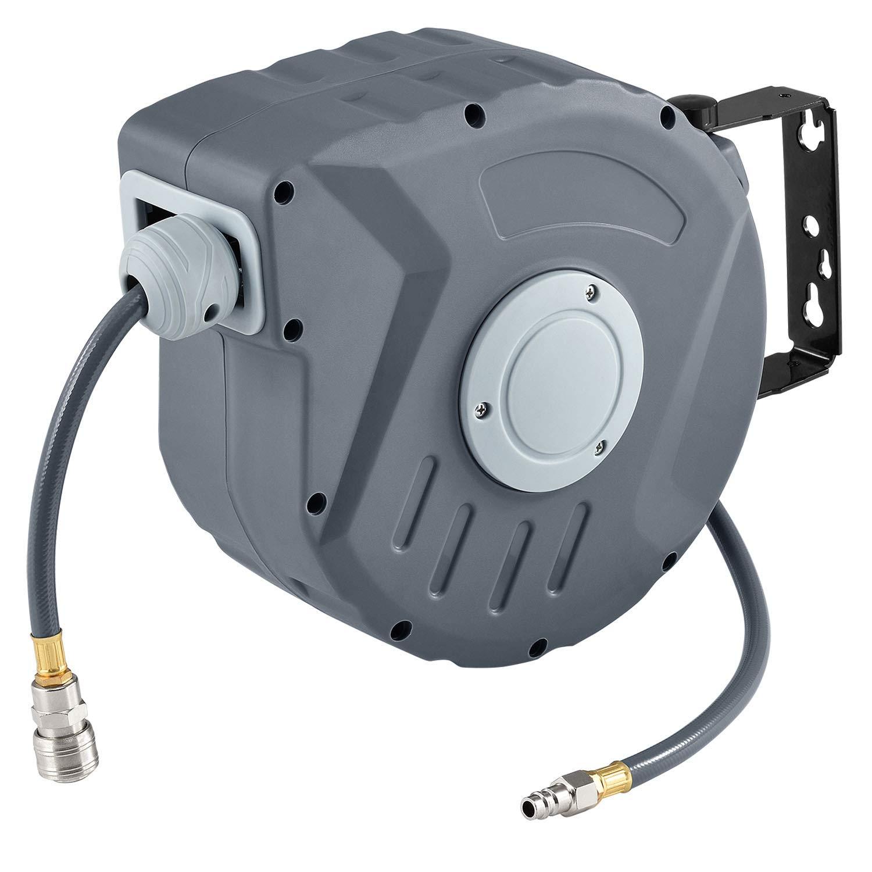 Automatischer Druckluft-Schlauchaufroller Pressure 3/8 Zoll 20m zur Wandmontage | Juskys Juskys Gruppe GmbH