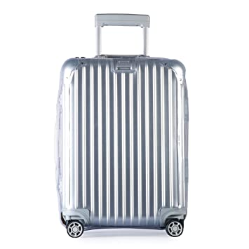 5e014b9b1 Luggage Cover Protector Clear PVC Suitcase Protective Case with Black  Zipper for RIMOWA Topas .