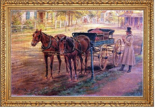(Art Oyster Edward Lamson Henry Horse and Buggy - 16.05