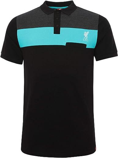 Liverpool FC Polo Hombre Bloque de Color Verde Azulado con ...