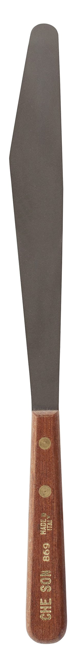 Jack Richeson 800869 7-1/2'' x 1'' Stainless Steel Spatula