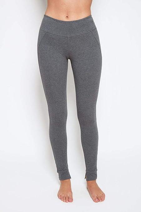 1c97ecbeceffbb Satva Women's Organic Cotton Mantra Legging High Waist Power Flex Yoga Pants  Running Sports Workout Tights Tummy Control Non See Through, Steel Heather