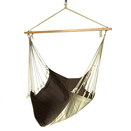 Slack Jack Quilted Fabric Swing (Brown and White)