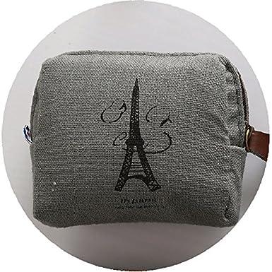 Qifumaer 5 Pcs Fashion Women Cotton Linen Coin Purse Multifunction Makeup Pouch Small Wallet Cute Cartoon Coin Purse