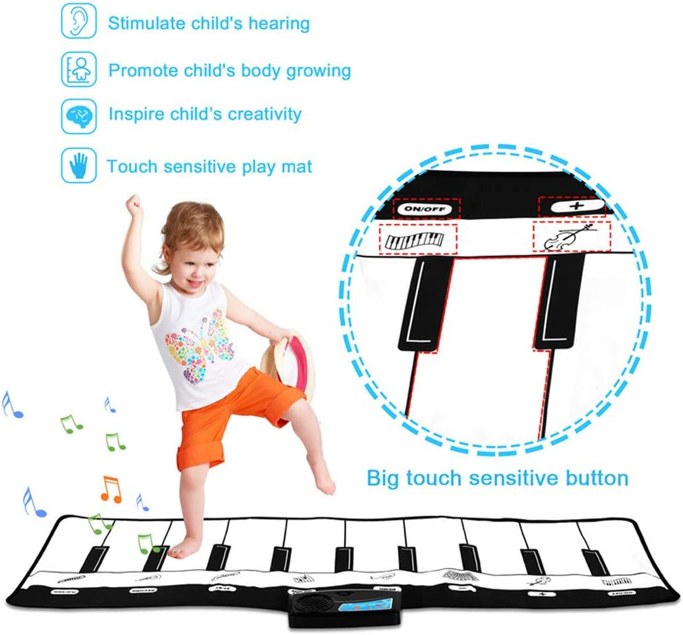 we18 baby games HBKOLEP Childrens music dancing blankets with light pedals animals,