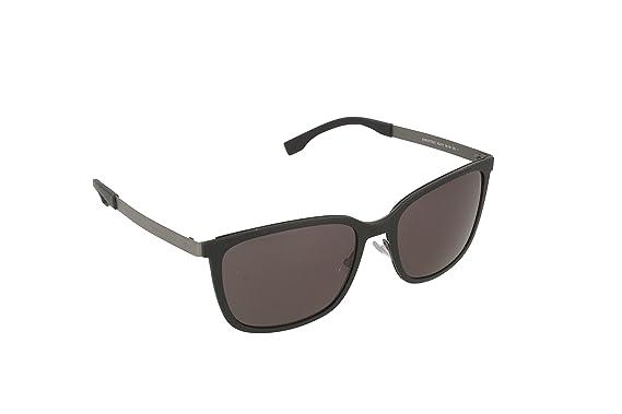 Hugo Boss 0723/S Y1 Gafas de sol, Negro Black Matte Dark ...