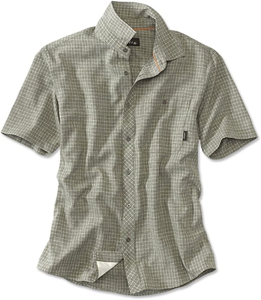 Orvis Mens Aerated Cascade Short-Sleeved Camp Shirt