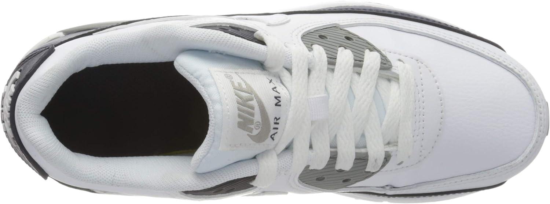 NIKE NIKE AIR MAX 90 LTR (GS) meisjes renschoen Wit wit Particle Grey Obsidiaan