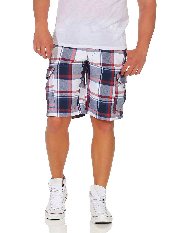 TALLA M (50). ZARMEXX Pantalón de algodón para Hombre Pantalón Corto de Bermudas Pantalón de Verano Ocio a Cuadros Loose Fit