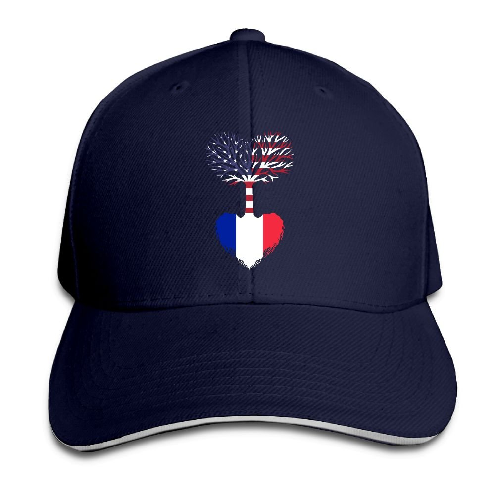 5471b483 Unisex American Grown France Root Snapback Hat Adjustable Peaked Sandwich  Cap at Amazon Men's Clothing store: