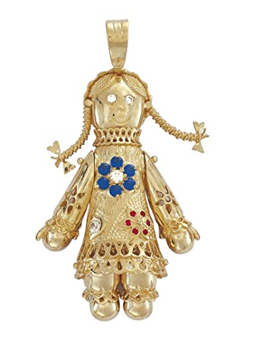 9ct gold cz rag doll amazon jewellery 9ct gold cz rag doll mozeypictures Images