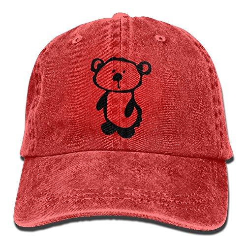 Huagestroe Cute Teddy Bear -5 Cowboy Hip-Hop Hat Rear Cap Adjustable Cap -