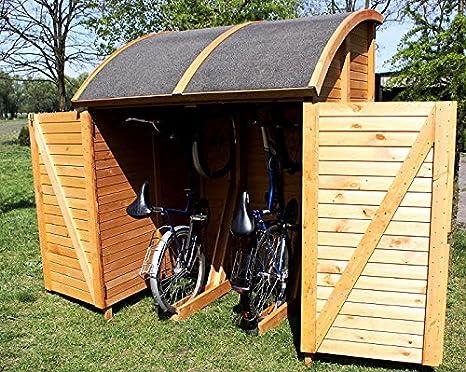 PRIKKER - Schuppen und Schränke Bike Port Martin Universal Caja 155 x 159 x 205 cm Cobertizo Bicicleta Garaje: Amazon.es: Jardín
