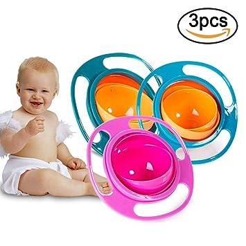 3 Pack Universal Gyro Schussel Meihaomt Baby Bowl Kinder Geschirr