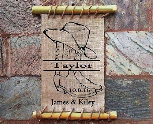 Amazon Handmade Wedding Gift Cowboy Boots And Hat Cane Decor