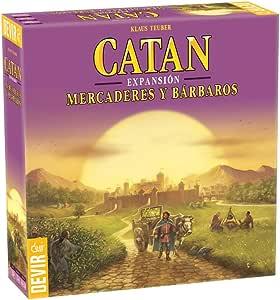 Devir - Catan Expansión Mercaderes y Bárbaros, juego de mesa: Amazon.es: Juguetes y juegos