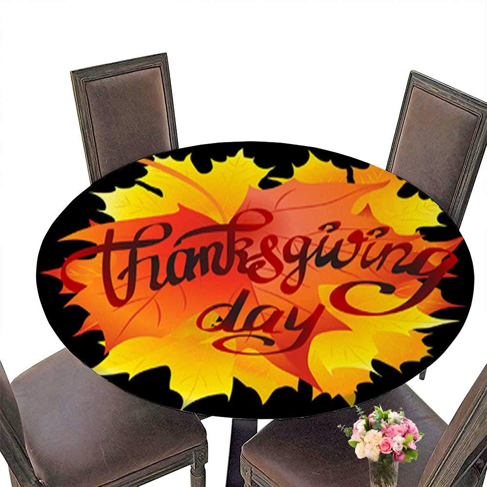 Foot&Mark-Tablecloth ポリエステル100% 感謝祭の日 - カード 秋の葉と挨拶 ベクター エコフレンドリー 安全 70.5
