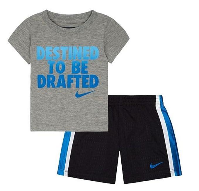 7704333f4 Amazon.com: Nike Baby Boys Tee & Shorts Set, 12 Months, Anthracite ...