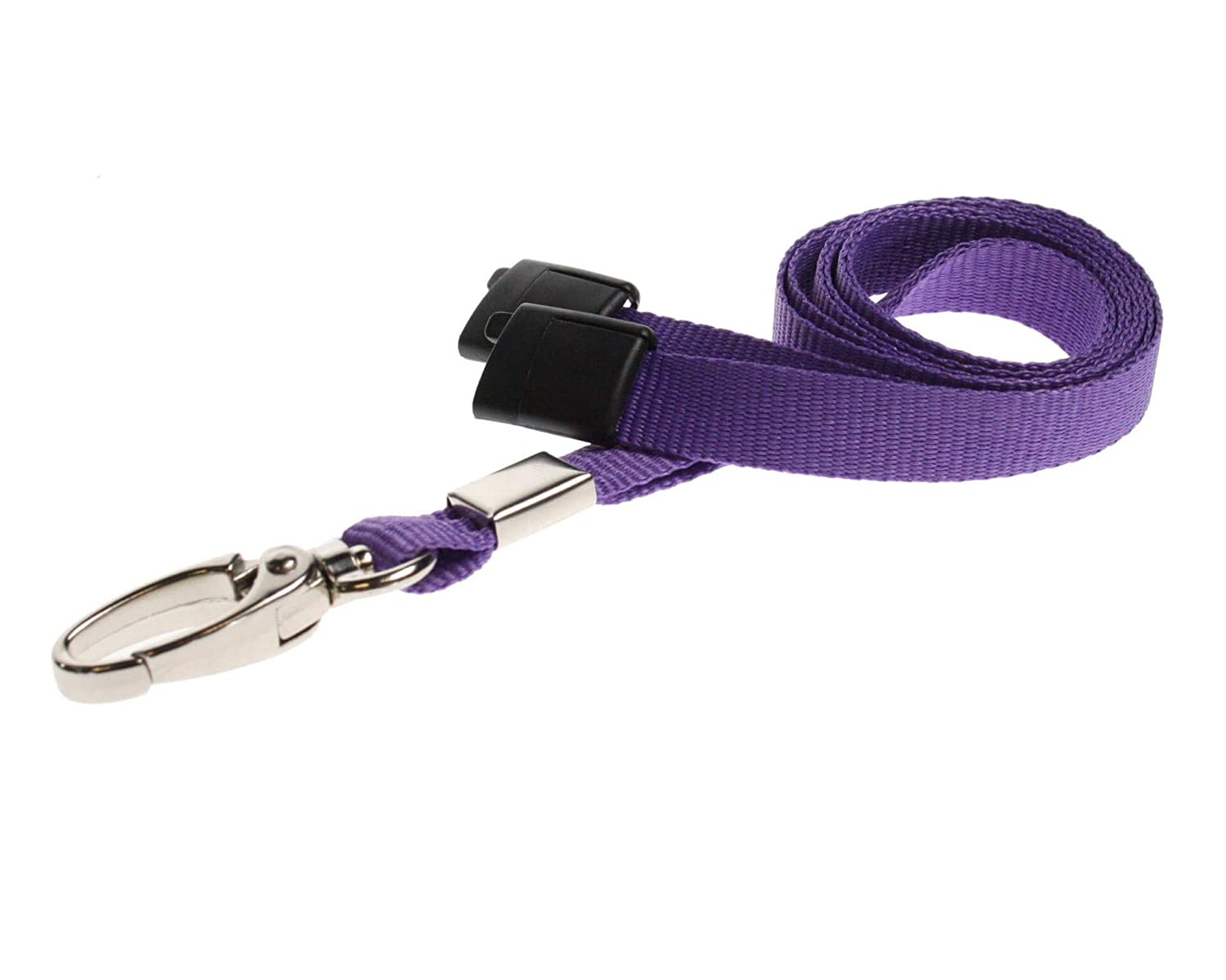 1pc Purple ALG ID Cards Safety Breakaway Metal Clip Breakaway Lanyard Plain Colour for Pass Card Badge Holders