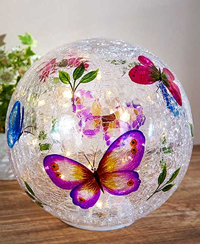 LED Lighted Springtime Painted Glass (Springtime Lamp)