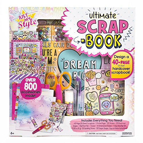 Kids Scrapbook Page - Just My Style Ultimate Scrapbook by Horizon Group USA
