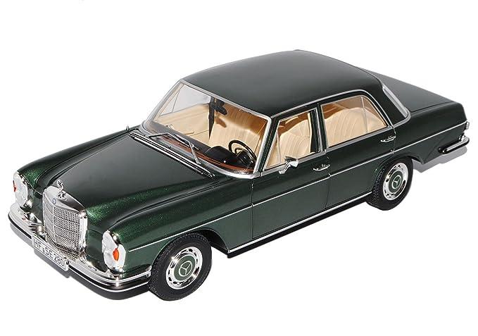 Mercedes-Benz 280 SE S-Klasse Limousine Grün W108 1965-1972 1//18 Norev Modell ..