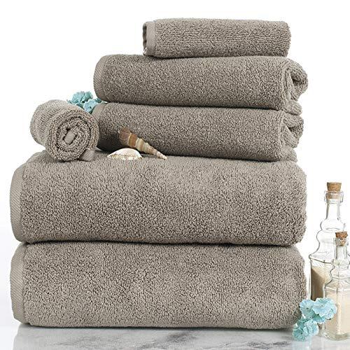 Lavish Homes 67-0017-T 6 Piece Cotton Towel Set44; Taupe