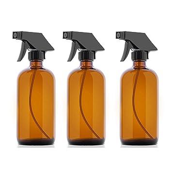 Botellas de cristal ámbar – 500 ml de pulverizador para aceites esenciales, productos de limpieza
