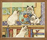 Design Works Goldfish Cats Counted Cross Stitch Kit