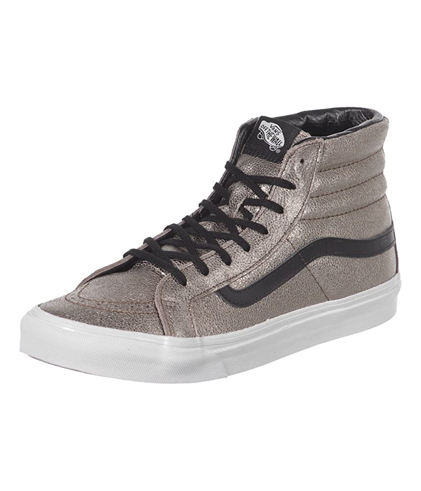3b423aca6ead5b Vans Unisex SK8-Hi Slim (Metallic Leather) Bronze Black Mens 3.5 ...