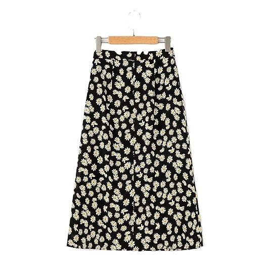 Yunbo-WS Falda de Mujer Falda de Las Mujeres Margarita pequeña ...