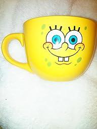 Amazon Com Silver Buffalo Spongebob Face Ceramic Soup