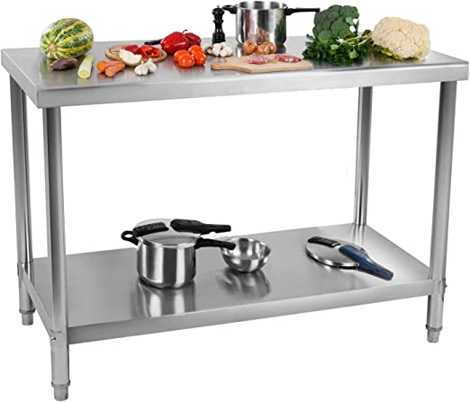 Royal Catering RCAT-120/60 Mesa de Trabajo Acero Inoxidable (120 x ...