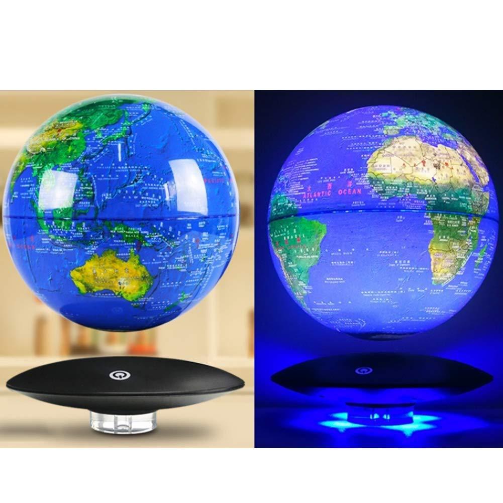 Blau Modell 8 Schwimmende Globen Sphere Map Blue Earth schwebende Weltkugel mit LED-Leuchten Maglev Global World Map Desktop