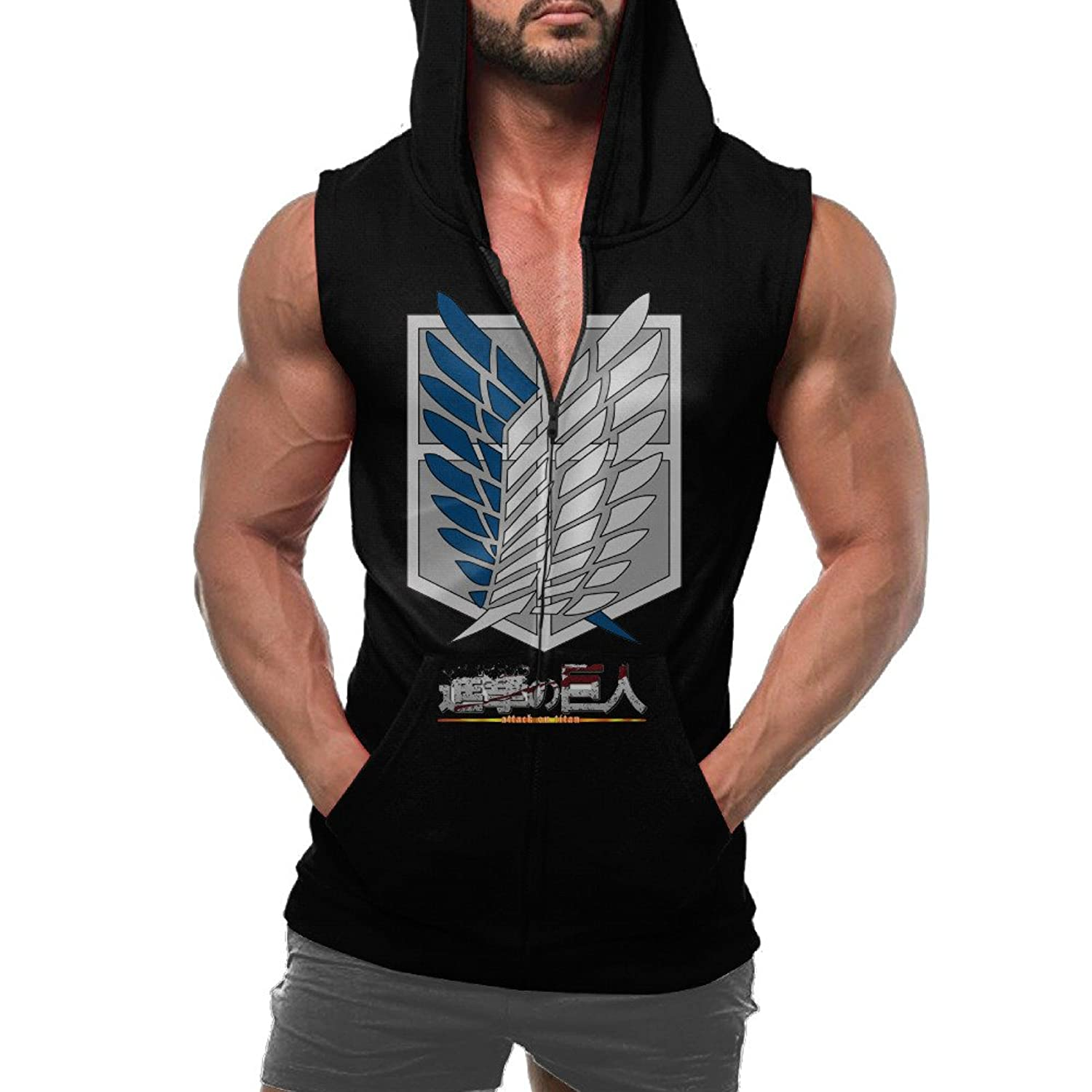 Advancing Titans Hoodie Sweatshirt Sleeveless With Pocket