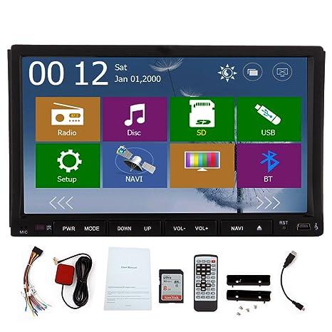 Est¨¦reo GPS de navegaci¨®n del coche DVD Sistema Multimedia Audio
