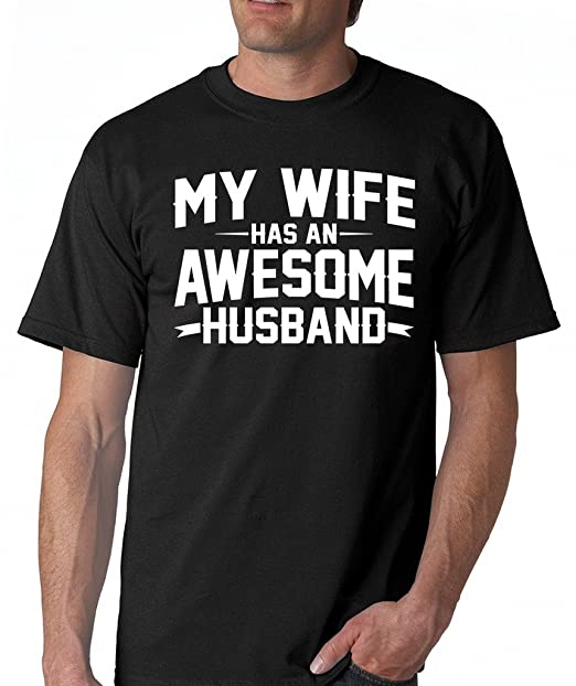 SignatureTshirts Mens My Wife Has an Awesome Husband T-Shirt S Black