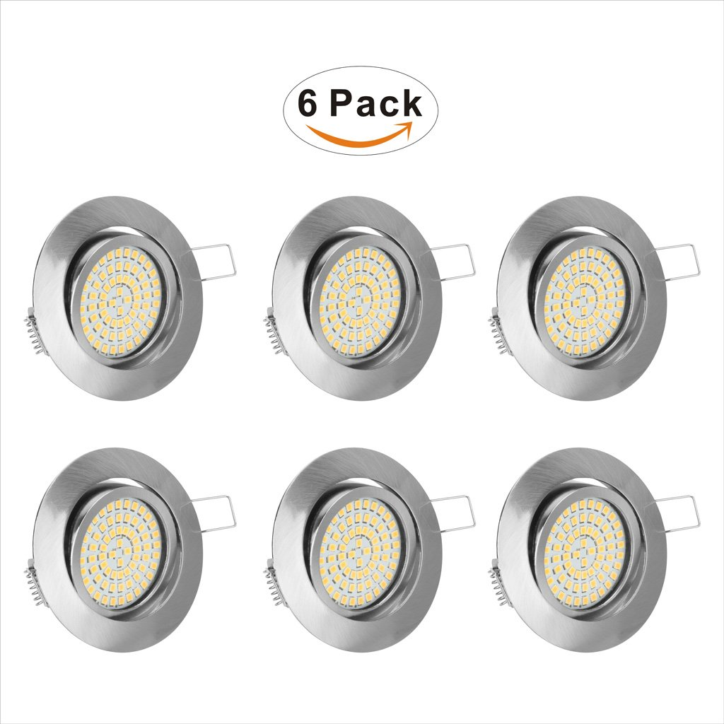 Cucoz Ceiling Light 6 Pack,LED Flush Mount Ceiling Light,3.23 inch,3.5W,2800K (Soft White Glow) Ceiling Lighting for Kitchen,Hallway,Bathroom,Stairwe