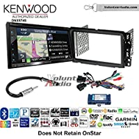 Volunteer Audio Kenwood DNX574S Double Din Radio Install Kit with GPS Navigation Apple CarPlay Android Auto Fits 2013-2014 Buick Enclave, 2013-2014 Chevrolet Traverse