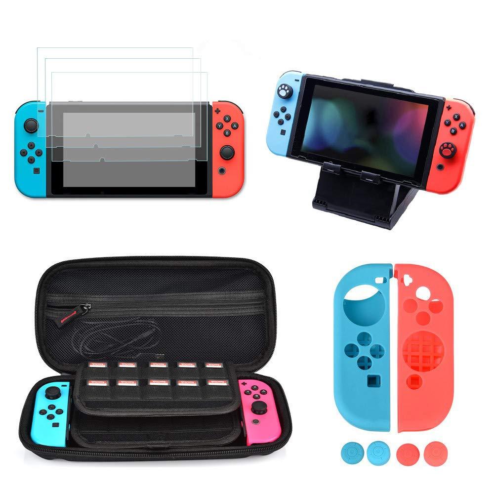 Kit de Accesorios para Nintendo Switch, moonlux Kit Protección para...