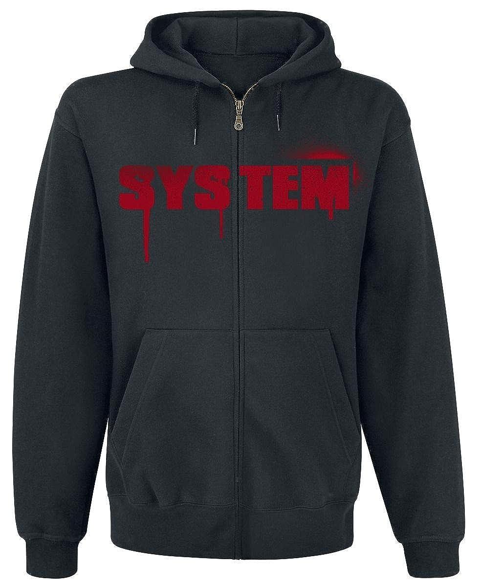 Noir S Générique System of A Down Liberty Drip Sweat-Shirt zippé à Capuche Noir