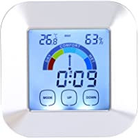 Digital Thermometer Humidity Meter Indoor Hygrometer Room Temperature Monitor Large LCD Display Thermometer Hygrometer…