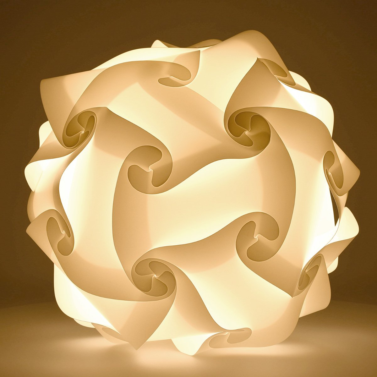 Kwmobile Diy Puzzle Lamp Shade Modern Iq Jigsaw Light In 30 Pieces