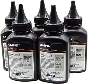 100G Original Black Refill Printer Toner Powder Kit for HP M1210 P4014 4015 4515 P4015 4515 P4515 P2035 P2055 2300 1010 1012 Laser Toner Power Printer (100g/Bottle,5 Pack)