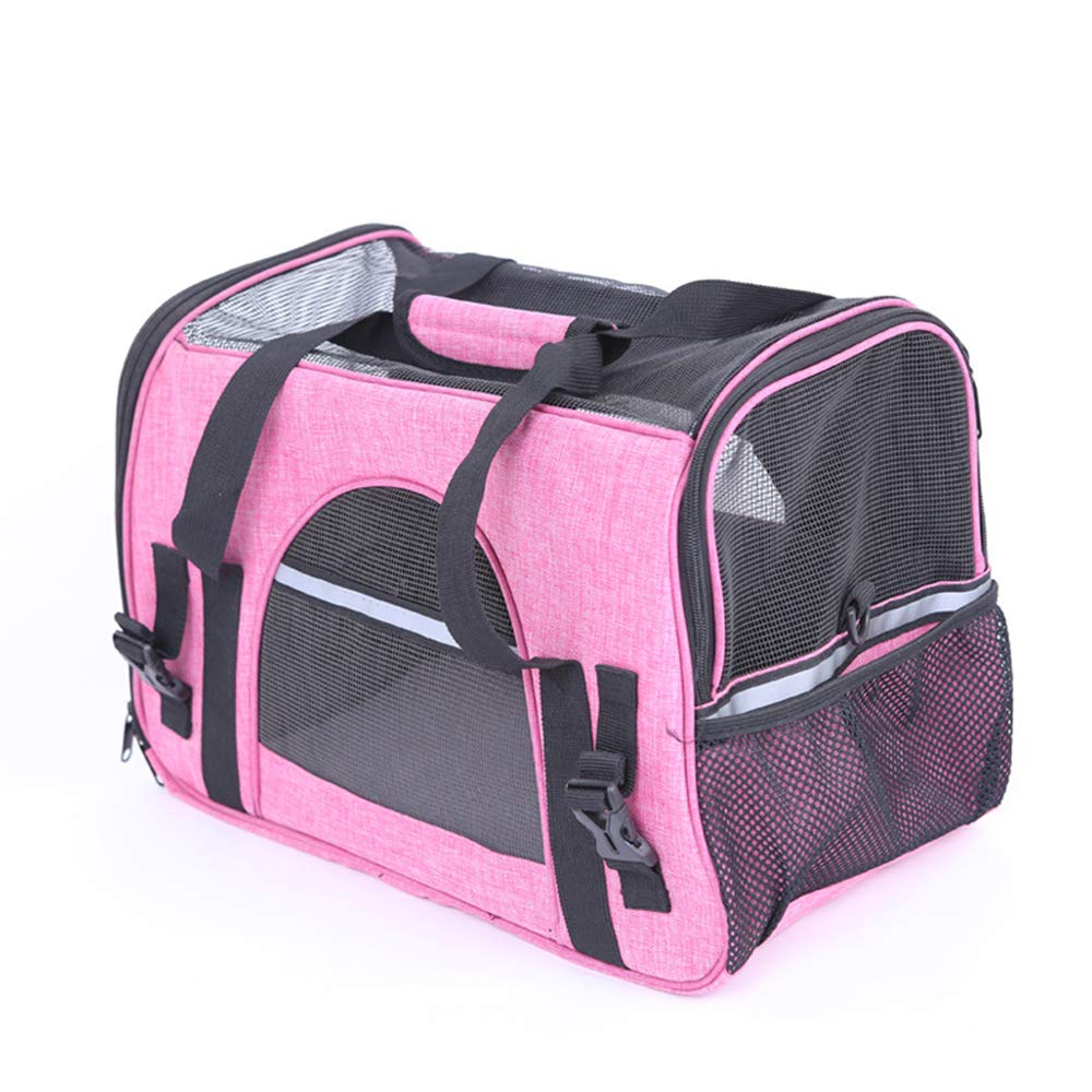 Pet Carrier, Pet Travel Soft Puppy Carrier Folding Handbag, Soft-Sided Mesh Pup Pack for Outdoor Travelling